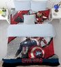 Marvel Civil Wars Red Double Bedsheet with 2 Pillow Cover by Spaces
