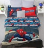 Marvel Spiderman Blue Double Bedsheet with 2 Pillow Covers by Spaces