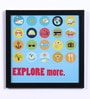 Wood & Acrylic 8 x 8 Inch Explore More Framed Poster by Speaking Frame