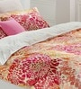 Autumn Blossoms Multicolour 100% Cotton Abstract Single Bed Sheet (with Pillow Covers) - Set of 2 by Esprit Home
