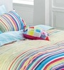 Rainbow Stripes Multicolour 100% Cotton Abstract Bed Sheet by Esprit Home