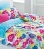 Floral Mlange Multicolour Cotton Abstract Double Bed Sheet by Esprit Home