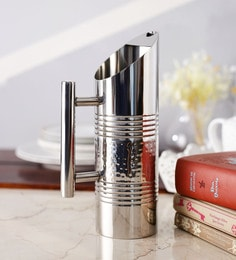 Ss Silverware Stainless Steel Water Pitcher High Polish With Hammered Finish - 1.5 Litre