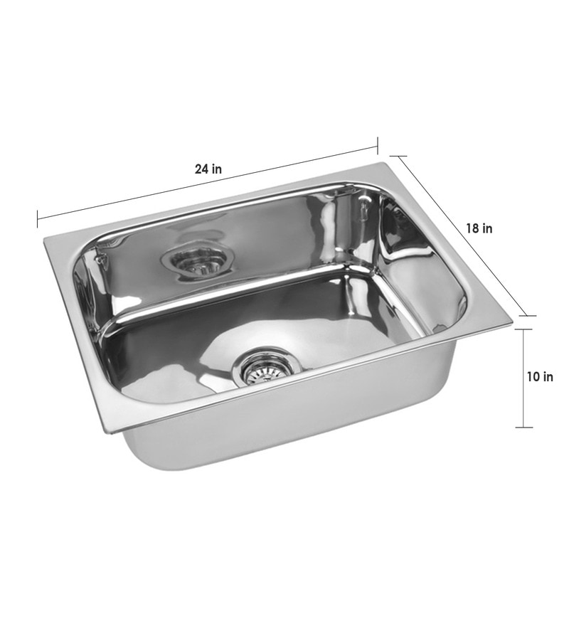 Good Buy SS Silverware Stainless Steel Single Bowl Kitchen Sink   SS SINK HQ  Online   Kitchen Sinks   Hardware U0026 Electricals   Pepperfry
