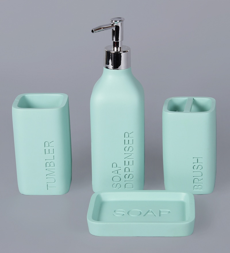 Bathroom Accessories Green awesome teal bathroom accessories sets ideas - best image 3d home