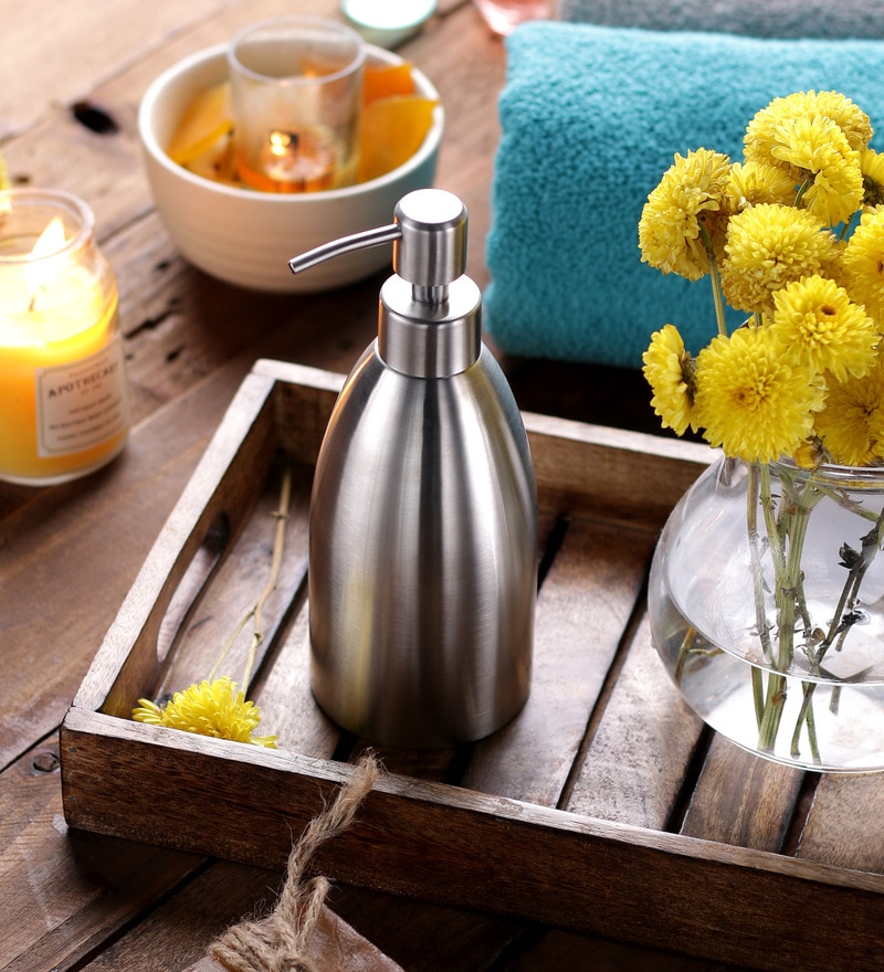 SS Silverware Silver Stainless Steel Soap Dispenser