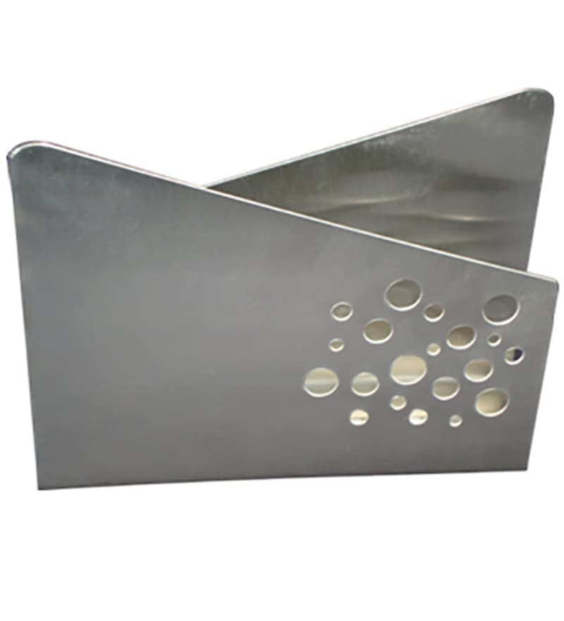 SS Silverware Stainless Steel Perforated In Circle Cut Tissue Holder