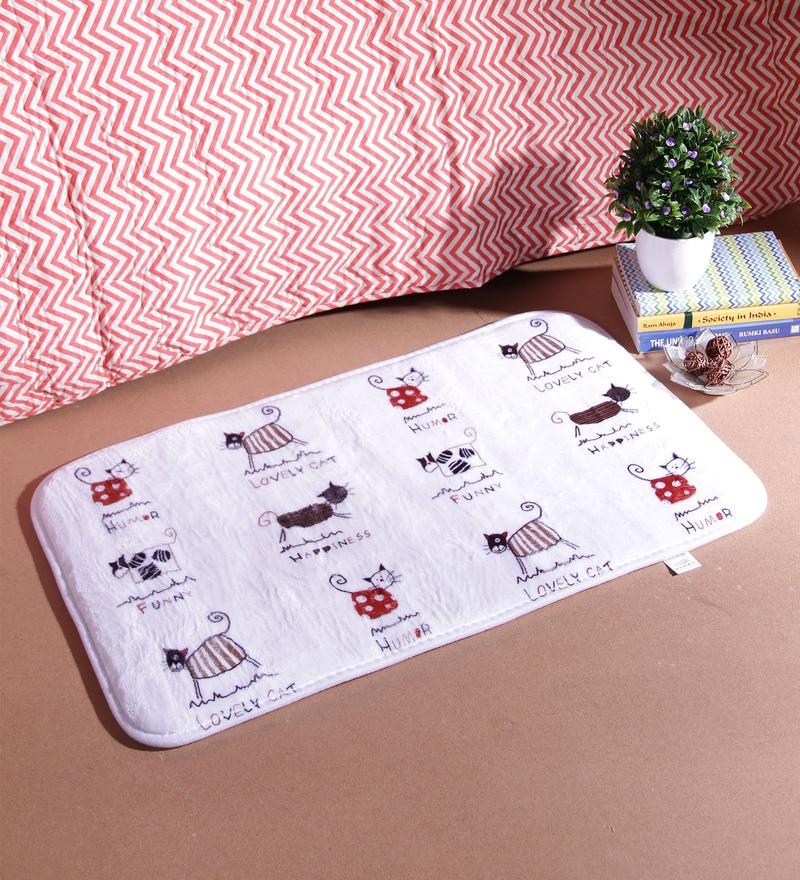 18 x 30 Inch White Cotton Bath Mat by SS Silverware
