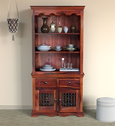 Microwave Cart Stand One Shelf for the Microwave and Another Shelf Above Plus a Drawer and Cabinet Below White Finish