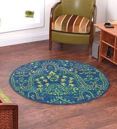 Ethnic Motif Nylon 2 x 2 feet Machine Made Carpet