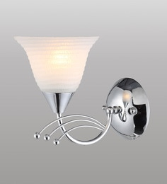 Stello White And Silver Metal And Glass Wall Light - 1598158