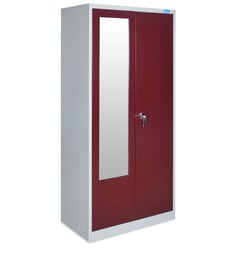 Stephen Two Door Wardrobe With Locker In Grey & Blue