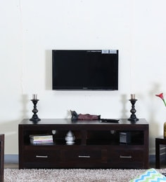 Stigen Entertainment Unit In Warm Chestnut Finish