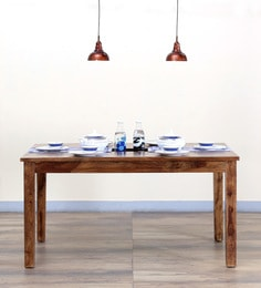 Stigen Six Seater Dining Table In Provincial Teak Finish