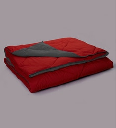 Stoa Paris Red & Grey Microfibre Reversible Comforter