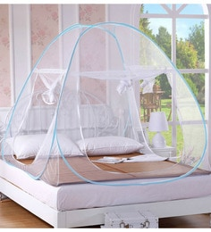 Story@Home Foldable Mosquito Net Double Bed With Soft Mesh And 2 Side  Zipper Opening