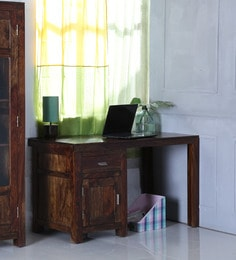Oriel Study And Laptop Table In Provincial Teak Finish