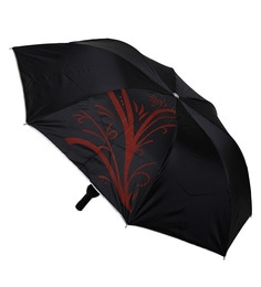 Stybuzz Abstract Polyester Black Wine Bottle Umbrella