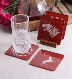 383 Options In Table Accessories Stybuzz Game Of Throne Multicolour Acrylic Square Coasters