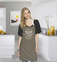 Stybuzz I Am The Boss Rule Cotton Kitchen Aprons