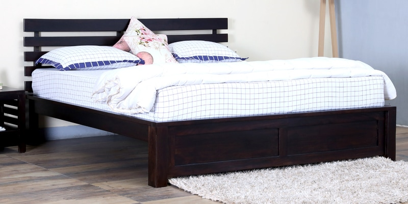 Stigen Solidwood Queen Bed in Warm Chestnut Finish by Woodsworth