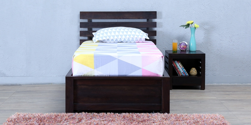Stigen Solidwood Single Bed with Trundle in Warm Chestnut Finish by Woodsworth