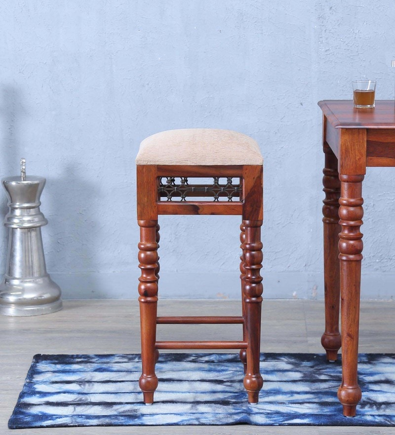 Stafford Bar Stool in Honey Oak Finish by Amberville