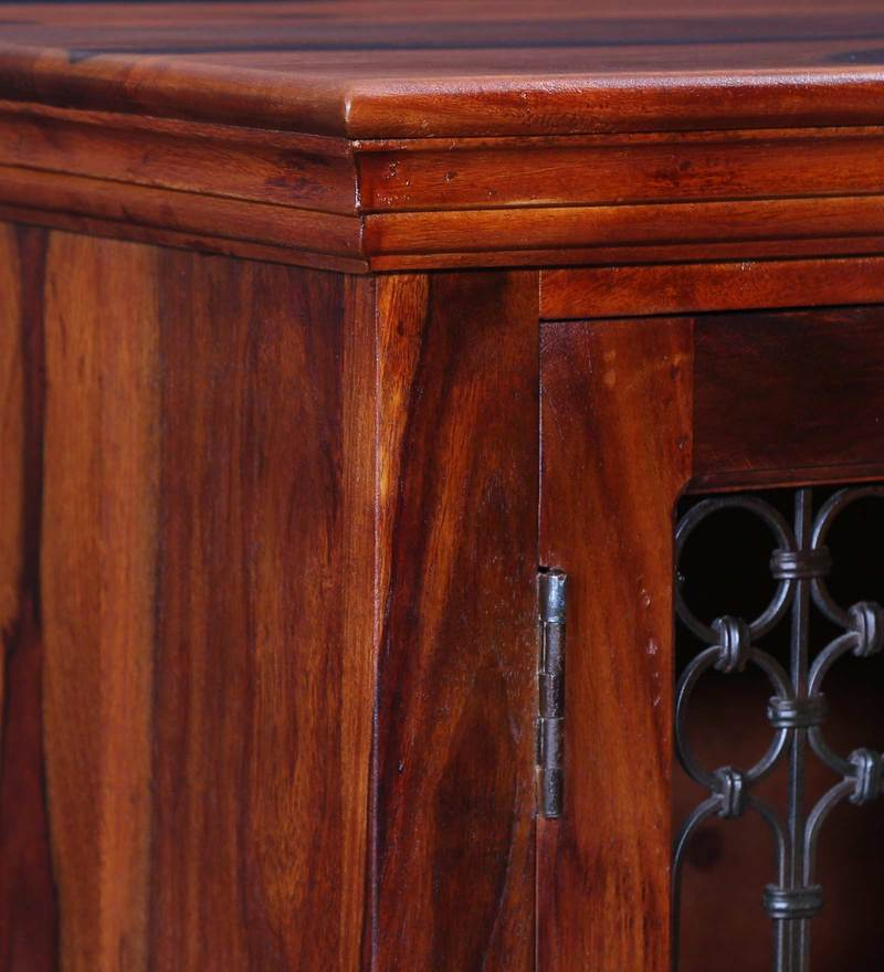 Top Buy Stafford Solid Wood Cabinet in Honey Oak Finish by Amberville  ZZ44