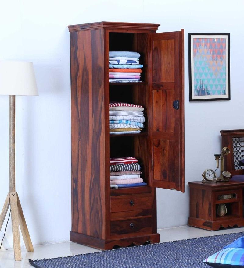 Buy Stafford Solid Wood Wardrobe In Honey Oak Finish By