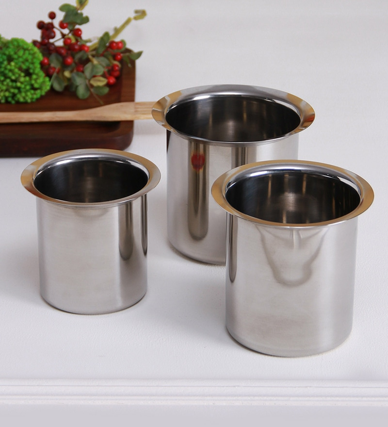 Stainless Steel Milk Container Boiler Gunj - Set of 3 by Aristo