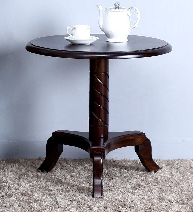 Stalley High End Table in Warm Chestnut Finish by Amberville