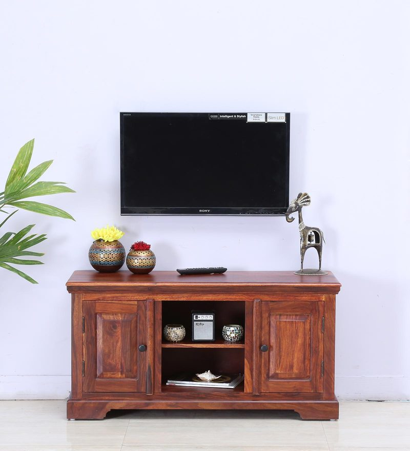 Stanfield Entertainment Unit in Honey Oak Finish by Amberville