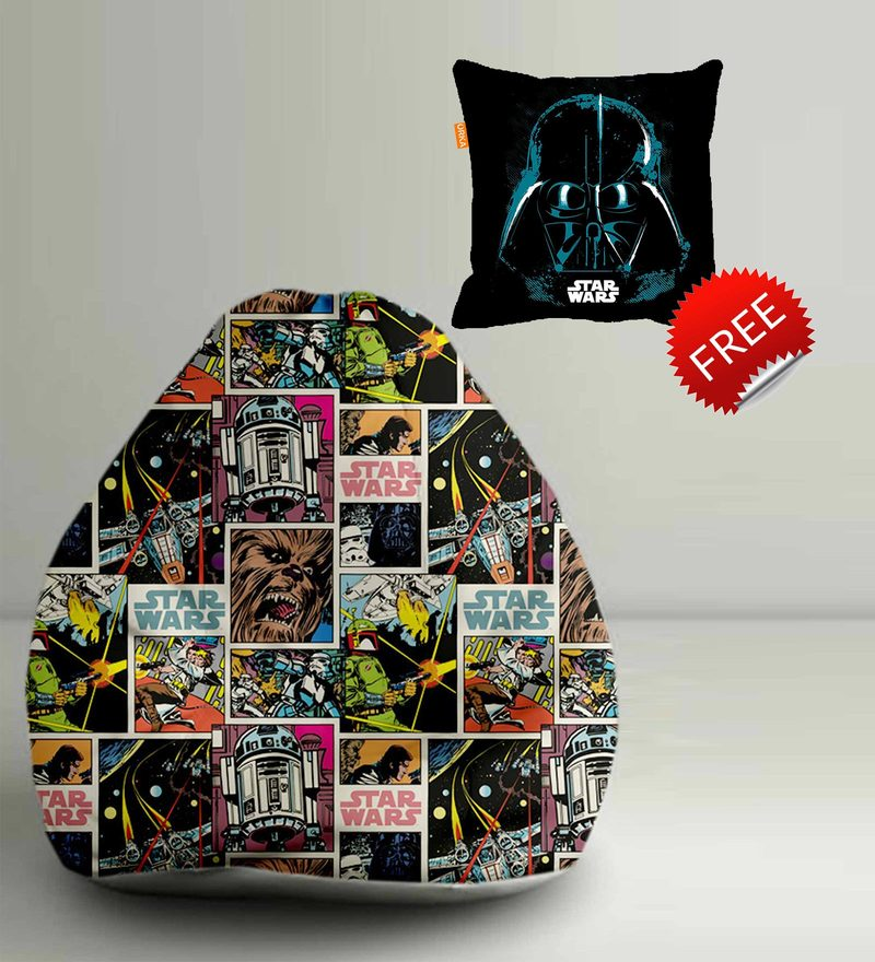 Star Wars Comic Digital Printed Bean Bag XXL Filled with Beans by Orka(With Small - cushion Inside)