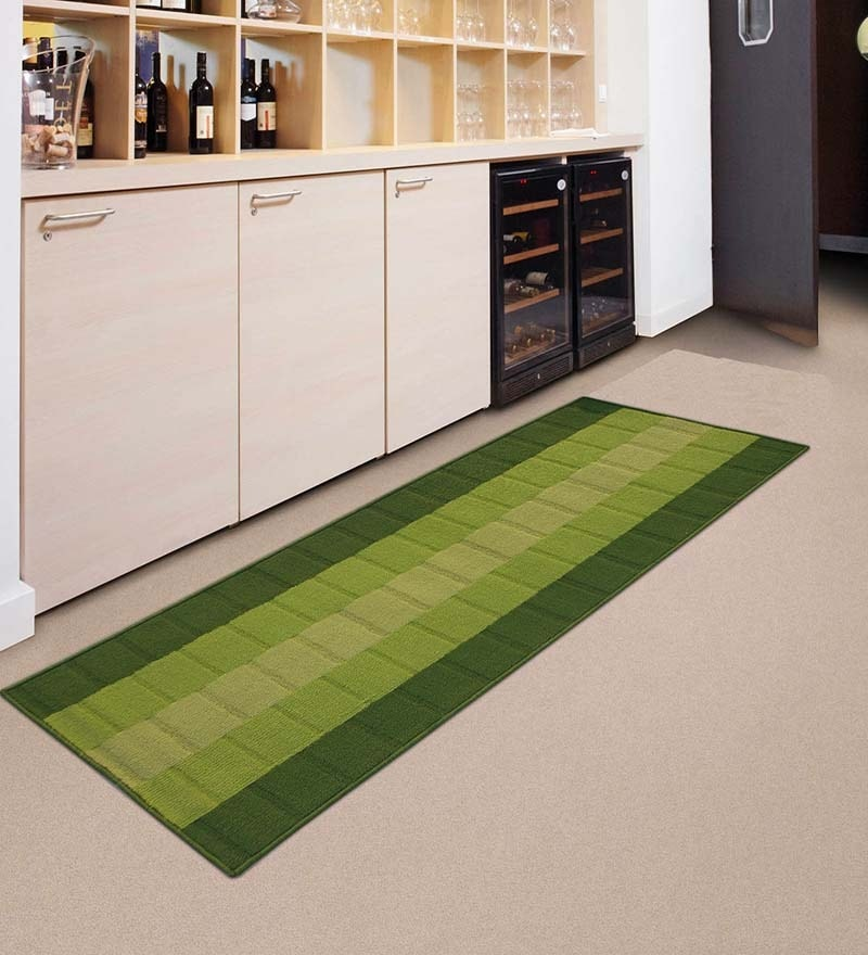 Green Nylon 55 x 22 Inch Runner by Status