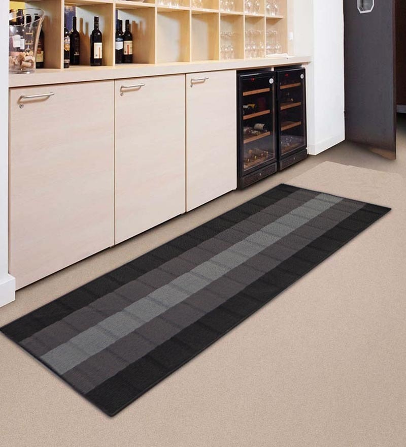 Black & Grey Nylon 55 x 22 Inch Runner by Status