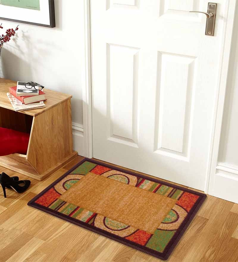 Brown Abstract Bogo Door Mat by Status