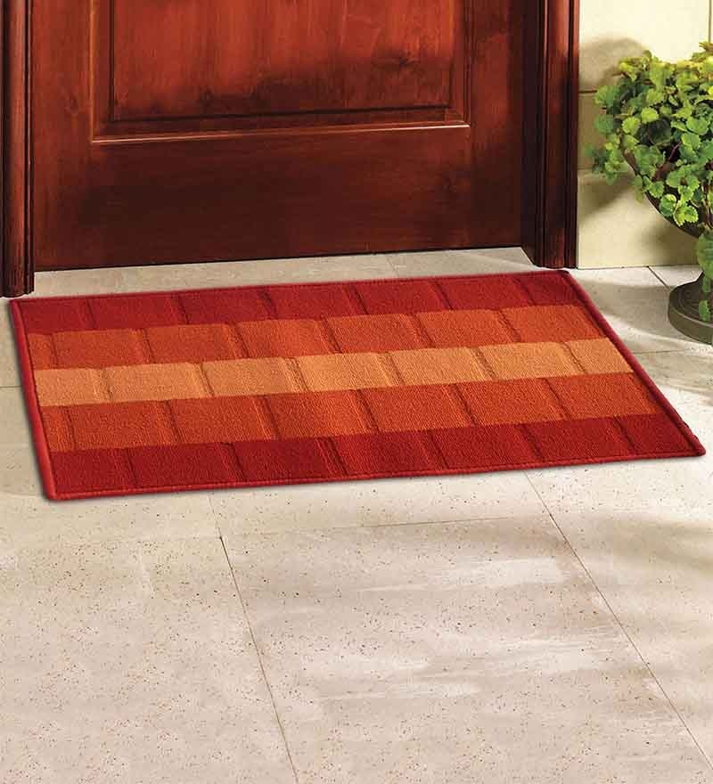 Orange Polypropylene Door Mat by Status