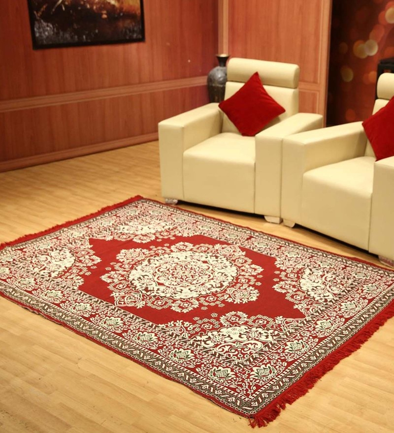 Status Red Cotton 54 x 84 Inche Carpet