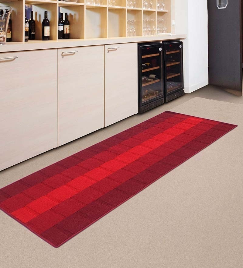 Red Nylon 55 x 22 Inch Runner by Status