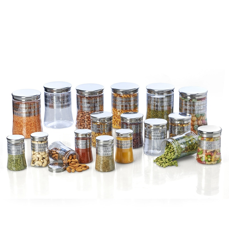 Steelo Transparent Storage Container - Set of 18