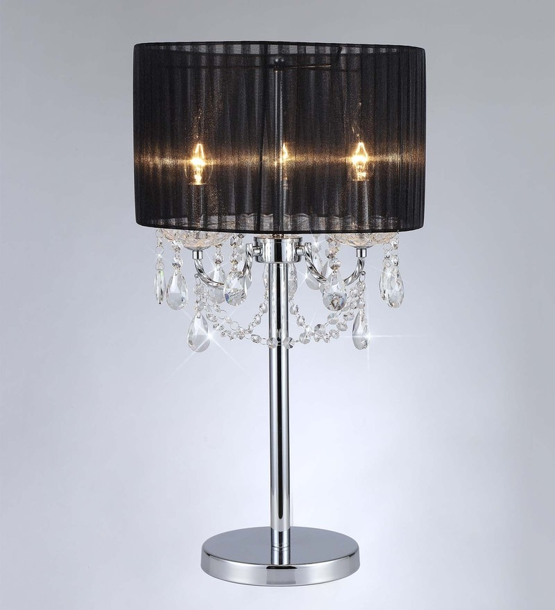 Black Fabric Table Lamp by Stello