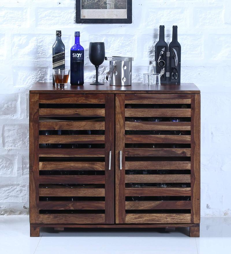 Stigen Bar Cabinet in Provincial Teak Finish by Woodsworth