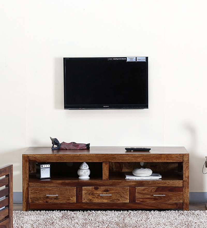 Stigen Entertainment Unit in Provincial Teak Finish by Woodsworth