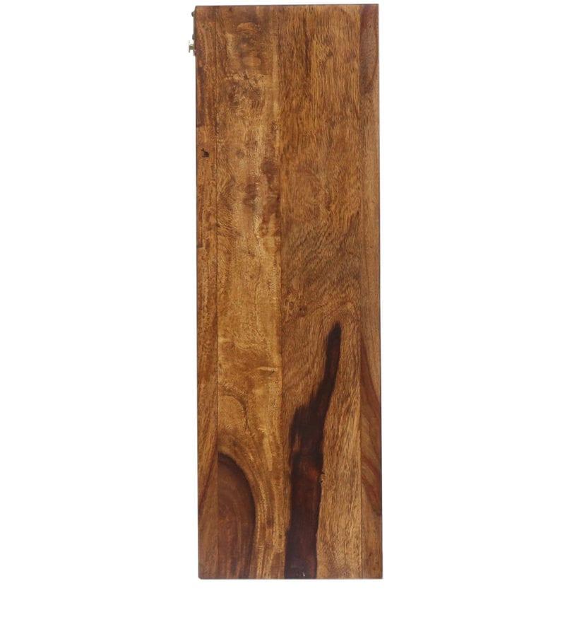 Carved Teak Magic Wardrobe.Stigen Rectangular Wall Mirror With Slide Out Storage In Provincial Teak Finish By Woodsworth