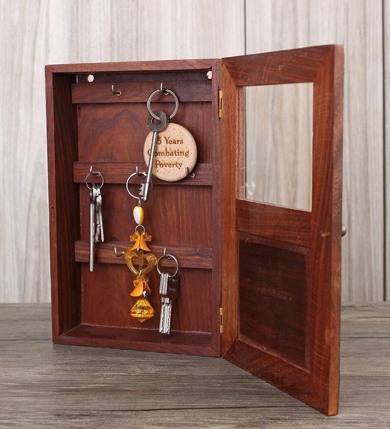 Buy Store Indya Key Box Wood Key Holder Online Key