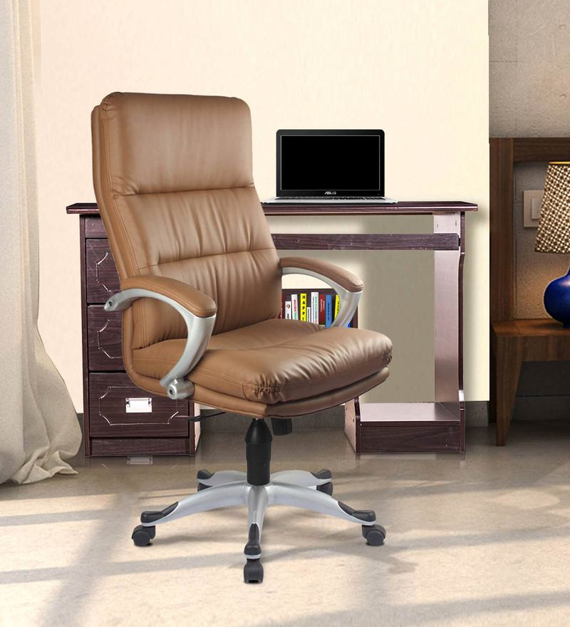 Storm High Back Executive Chair in Sand Brown Color by VOF