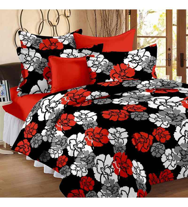 Black Single Size Dohar Quilt by Story@Home