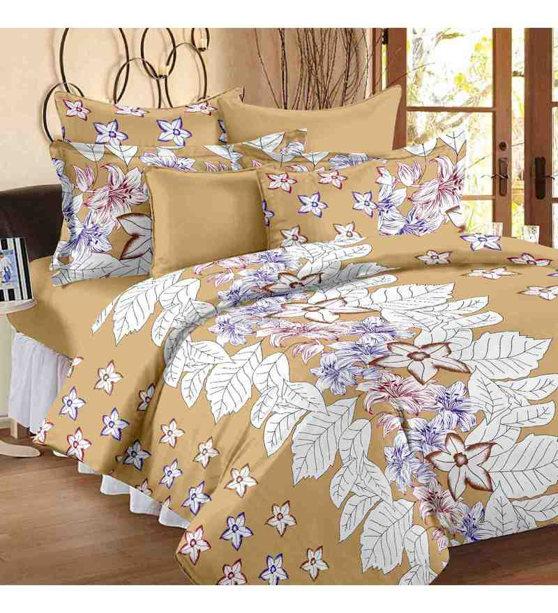 Multicolour 100% Cotton 88 X 100 Inch Metro Bed Sheet Set by Story@Home