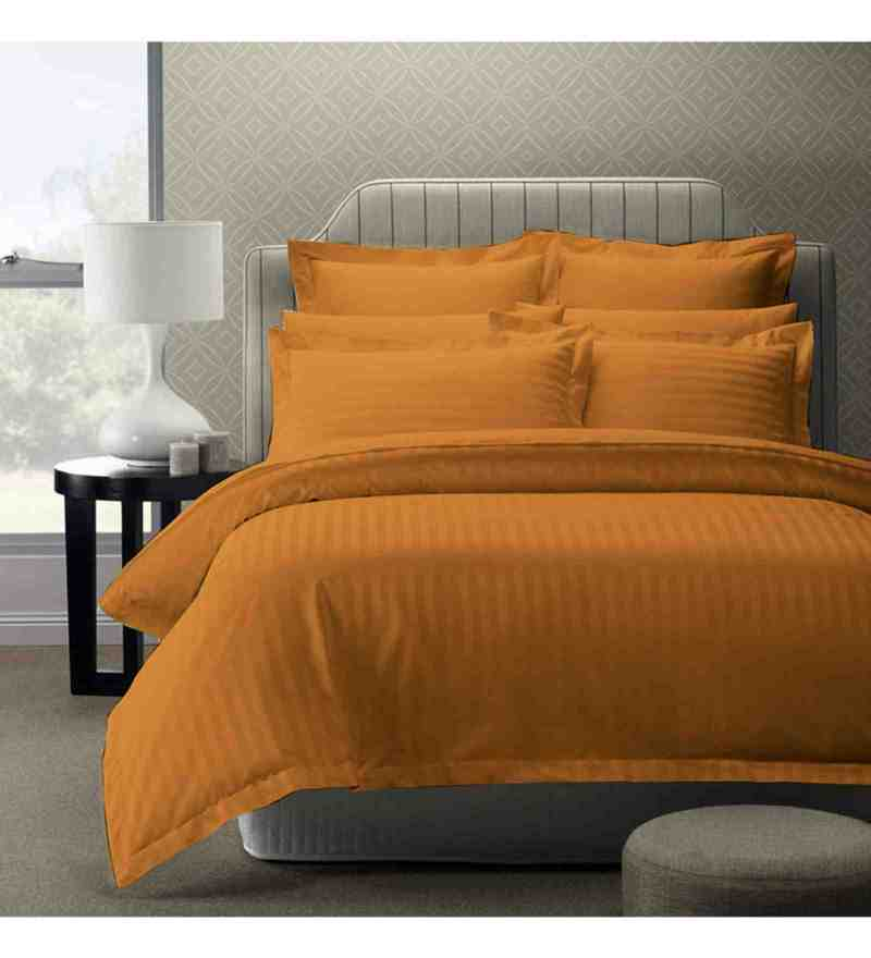 Mustard 100% Cotton 108 x 108 Inch Foreverxl Bed Sheet Set by Story@Home