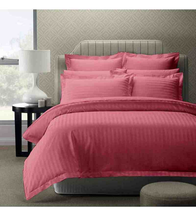 Peach 100% Cotton 108 x 108 Inch Foreverxl Bed Sheet Set by Story@Home